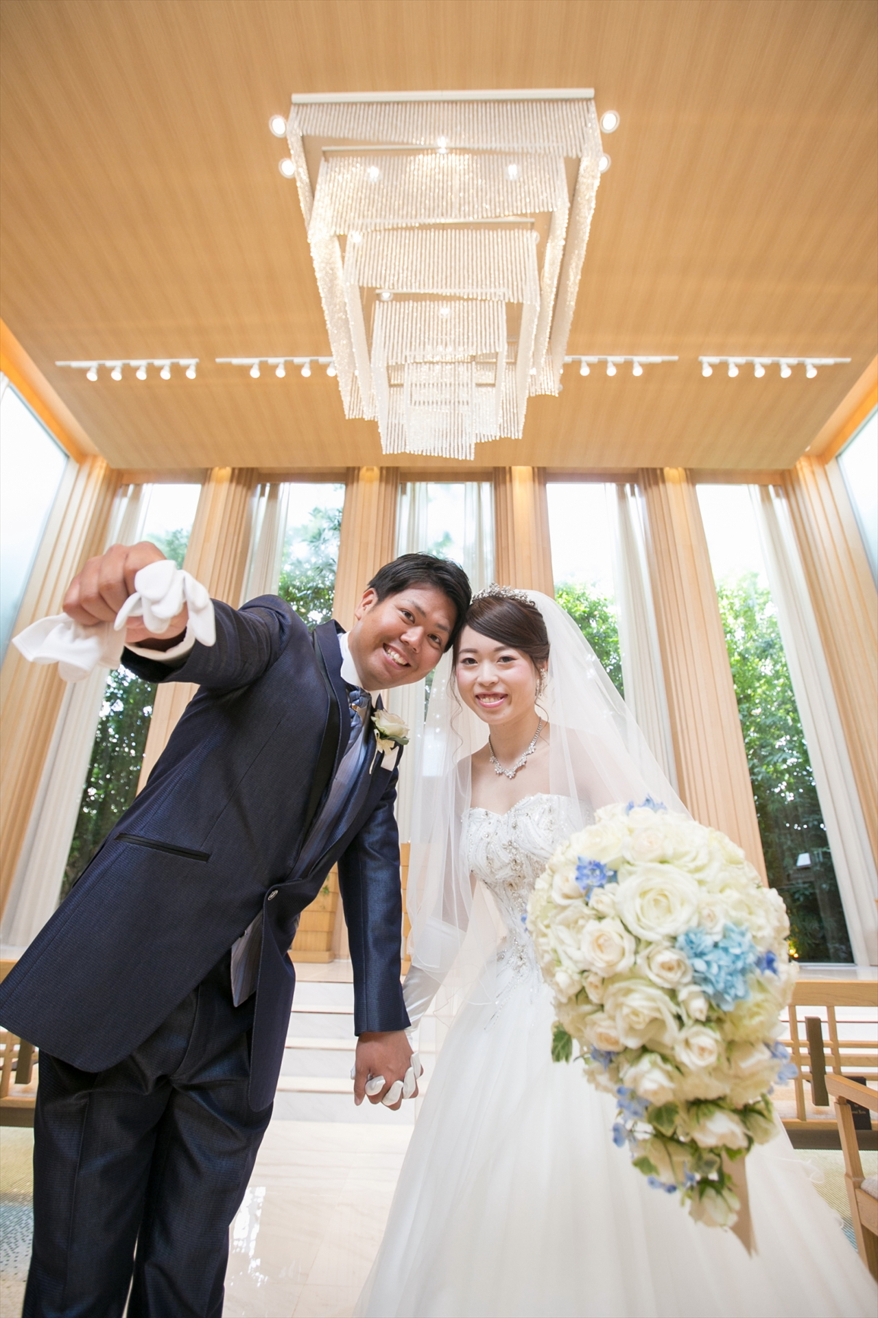 75703a3f1eb9c いつも明るく楽しくお話してくださるおふたり 結婚式もおふたりらしく笑顔いっぱい ...